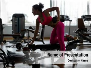 Woman fitness gym strength training
