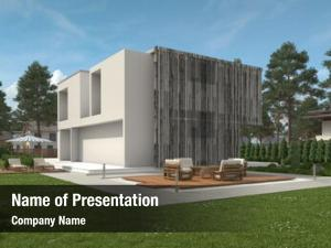 Modern exterior view two storey