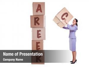Career building new concept businesswoman