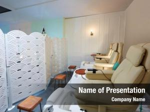 Pedicure nails salon sofa chair