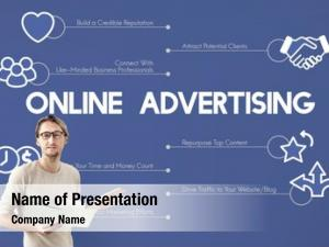 Marketing online advertising commerce concept