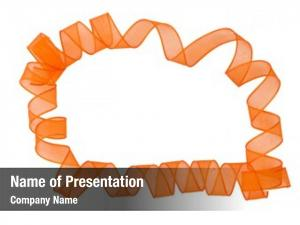 Surronding orange ribbon copyspace