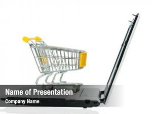 Cart empty shopping laptop computer