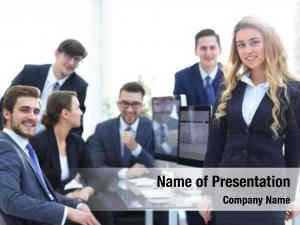 Business female assistant team office