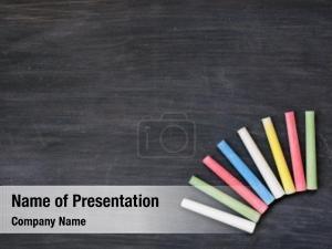 Colorful chalk blackboard chalk