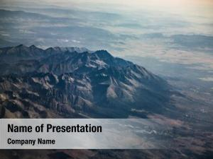 High aerial view mountain range