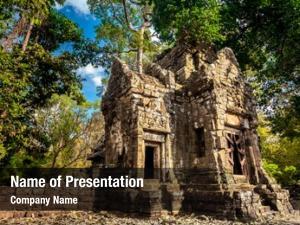 Architectural angkor wat temple