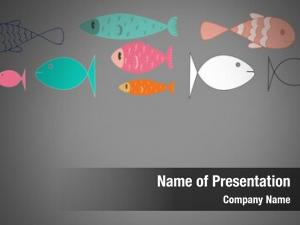 Colorful digital composite fish grey