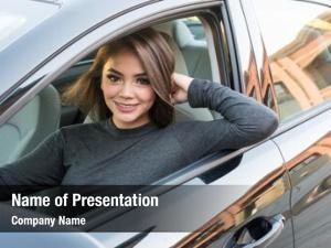 Driver girl happy teen