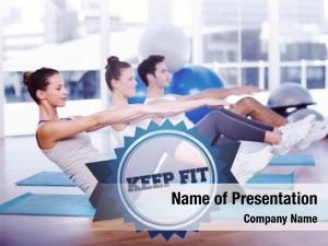 Fit word keep class stretching