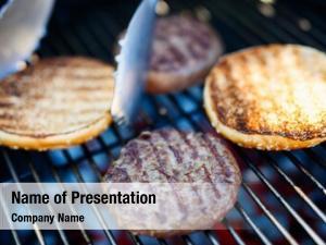 Bun grilling fresh burger meat