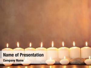 Aromatic zen stones candles table,zen