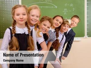 Classroom happy schoolchildren