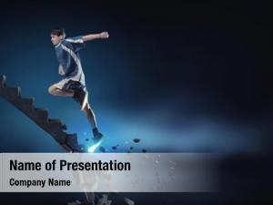 Man sports active running stone