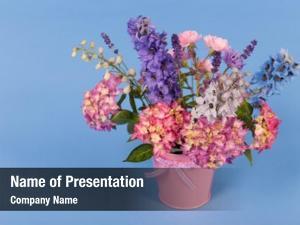 Flowers mixed bouquet colorful vase
