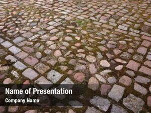 Cobble stones roadway