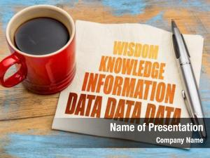 Knowledge data, information, wisdom word