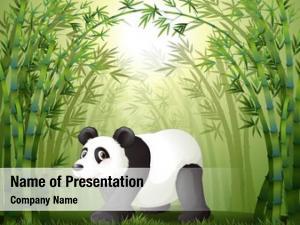 Trees illustration bamboo panda center