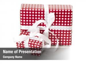 Checkered presents wrapped paper
