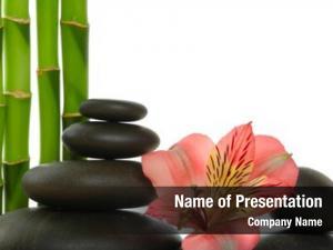 Bamboo zen stones