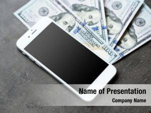 Dollar smart phone banknotes grey