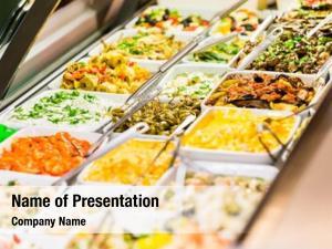 Appetizers display meze delicatessen shop