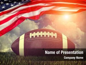Ball american football old glory