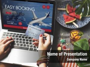 Flight air ticket booking concept