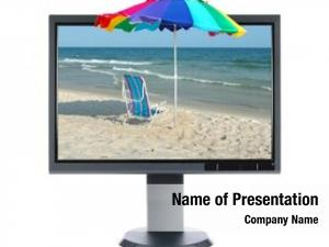Beach lcd monitor over white