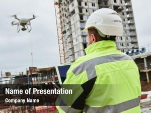 Construction drone operated