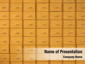 Wooden drawers powerpoint template