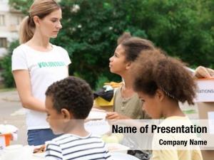 Volunteer sharing powerpoint template