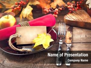 Setting holiday table invitation
