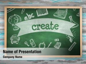 Create chalkboard against against green