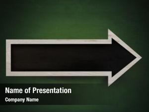 Sign blackboard arrow green blackboard