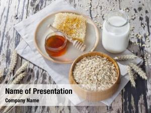 Healthy breakfast bowl full of oats