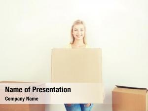 Moving delivery powerpoint template