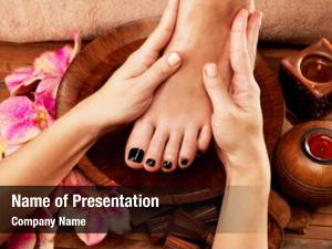 Procedure massage foot massage foot