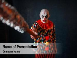 Clown scary bloody reaches out