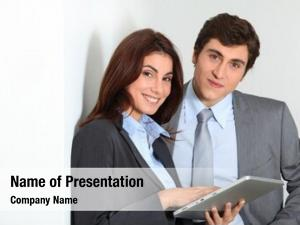 Using business people electronic tab