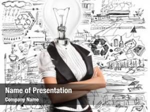 Lamp idea concept, head business