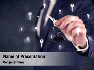 Holding businessman suit keys keys
