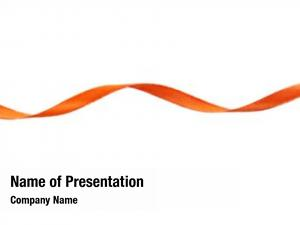 White orange ribbon,