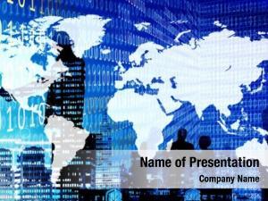 World binary code map business