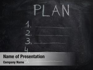 Written plan list white chalk