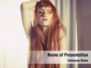 Photography studio fashion sexy redhead