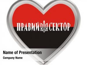 Flag right sector silver heart