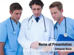 Using doctors nurses tablet white