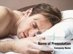 Glass man sleeping alcohol hand