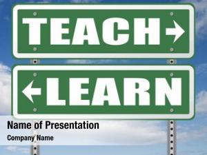 Learn and teach powerpoint template